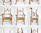 Chairs made of driftwood from Silas' collection in Coastal East Africa, Arctic, and Meso-American Reef.