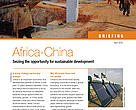 China and East Africa: opportunities for sustainable development