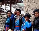 Ethnic Qiang women, one of many groups living in the Minshan Mountains, Sichuan Province, China.