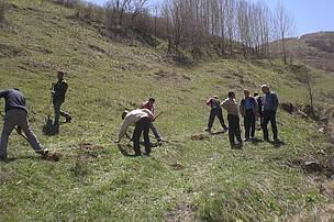 Preliminary activities in the restoration area in Lori