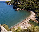 Cirali beach, Turkey - a beautiful holiday place and one of the few remaining nesting sites for the loggerhead turtles in the Mediterranean.<BR>