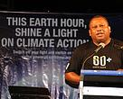 Climate change champion and Minister for Agriculture, Inia Seruiratu giving his address
