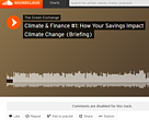 Podcast on climate and finance