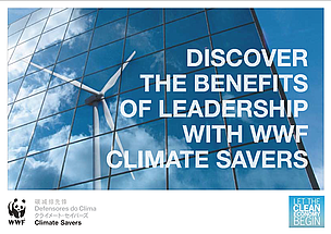 Portada del folleto Climate Savers  	© WWF Climate Savers