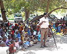 Community gathering in rural Tanzania. WWF Tanzania supports CSOs capacity building including information access