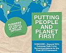 Putting people and planet first. CONCORD - Beyond 2015 European Task Force Recommendations for the Post-2015 Framework