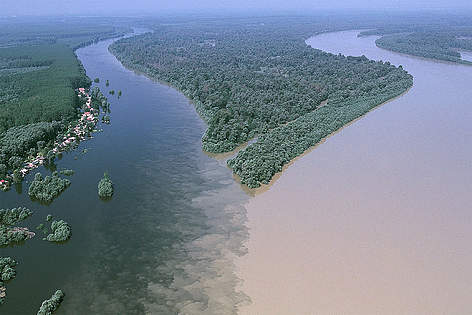 Confluence of the Danube and Drava Rivers. The commitment to protect this area would not be worth ... rel=