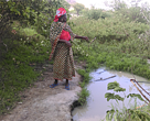 Conjesta Motela one of the beneficiaries of trainings in the management of water sources