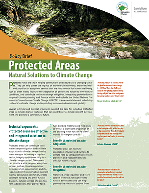 Protected Areas Natural Solutions to Climate Change - Policy Brief