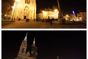 Zagreb cathedral, Croatia, switch off for Earth Hour