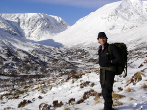 Neil Smith, Climate Witness from the UK, in the Scottish Highlands.