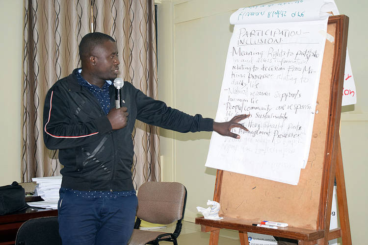CSO's capacitated on Effective Human Rights Centred Conservation
