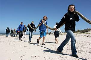 WWF Poland Blue Patrol volunteers working the Baltic coastline