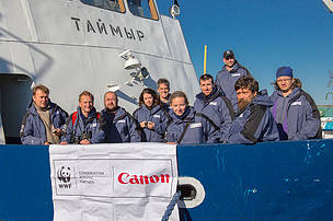 The crew of the Laptev Linkages expedition