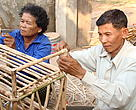 Mr. Sim Sem says that he now knows how to mould bamboo and rattan and transform them into chairs and tables and wardrobes and thanks to the Bamboo and Rattan project by WWF- Cambodia.