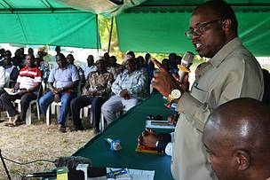"""Defend your Forests, it is your responsibility"" Kilwa villagers urged by Lind Regional Commissioner"