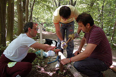 TV presenter Niki Kunchev at WWF's National Day of the Nature Parks, 23 May 2009, Vitosha, Bulgaria rel=