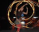 One of the six fire jugglers that took part of the act.
