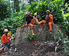 Workers in the IFO concession in the Republic of Congo take a break. A report by the Center for International Forestry Research (CIFOR) shows clear differences between FSC and non-FSC certified concessions in terms of workers' rights.