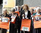 Womens Institute and WWF outside the European Parliament