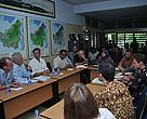Ben Knapen, Minister for Development Cooperation in the Netherlands with local NGOs in West Kalimantan.