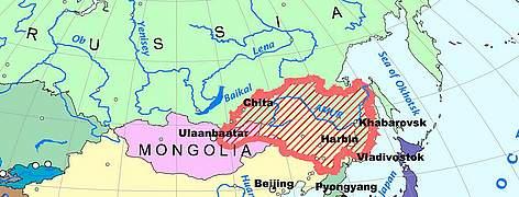 Amur River On World Map.Amur Heilong River Basin Wwf