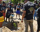 Tree planting during Earth Hour commemorations in Harare, Zimbabwe