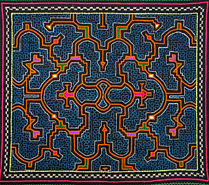 A piece of embroidered cloth