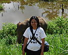 Elisabet with elephant
