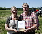 Regional winners of the WWF Baltic Sea Farmer of the Year Award 2015 - Finnish couple Markus Eerola and Minna Sakki-Eerola.