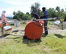 The iFADS for WWF-Pacific's Madang Lagoon project being assembled.