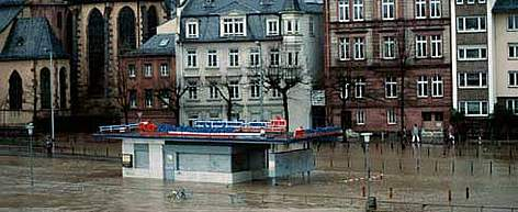 Flooding of river Main Inundations caused by heavy rain and destruction of floodplain. Frankfurt am ... rel=