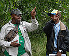Flory Botamba of WWF-DRC works with local community members to implement REDD+ pilot projects.