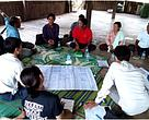 Focus group discussions during the rapid resource assessment in Stung Treng.