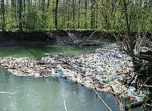 Garbage in Carpathians (Ukraine).