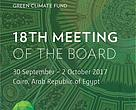 The 18th Meeting of the Board of the Green Climate Fund