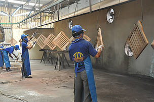 Workers at the Nghia Tin company.