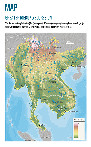 Clic to enlarge the Greater Mekong map.