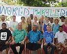 Guests part of the 2018 World Turtle Day celebration at Treasure Island Resort.