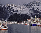 Harbour of Henningsvaer, Loften, Norway