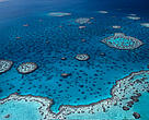 Hardy Reef, aerial view. Great Barrier Reef & Coral Sea, Australia.