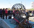 The traps were broken by a special tool and a statue has been erected with their parts in the centre of Khovd aimag.