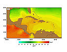 SST (Sea Surface Temperatures) - April.  	© http://www.rsmas.miami.edu