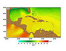 SST (Sea Surface Temperatures) - February.  	© http://www.rsmas.miami.edu