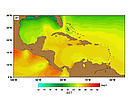 SST (Sea Surface Temperatures) - January.  	© http://www.rsmas.miami.edu