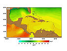 SST (Sea Surface Temperatures) - March.  	© http://www.rsmas.miami.edu