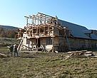 New natural winter home for Maramures cows almost complete