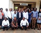 Participants pose for a photo after a two day workshop to develop district renewable energy strategies