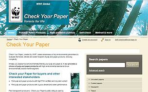 Access  pulp and paper products with high environmental standards / ©: WWF International