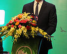Prince William, Duke of Cambridge, speaks at the 2016 Conference on Illegal Wildlife Trade in Hanoi.